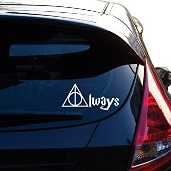 Premium Quality White Vinyl Decal Decal Dude NI654 Always Harry Potter Decal 5.5-Inches Wide
