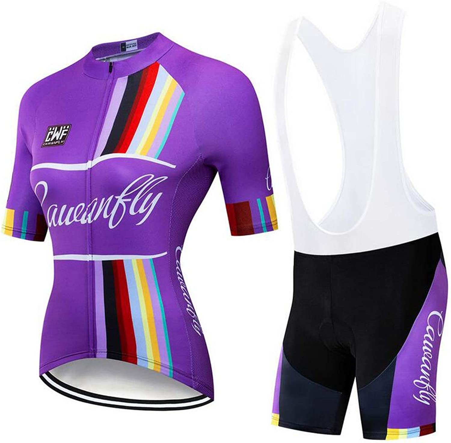 Cycling Jersey Women Mountain Bike Jersey Shirts Short Sleeve Breathable Quick Dry + Riding Shorts Tights Pants
