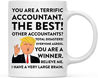 Andaz Press Funny President Donald Trump 11oz. Coffee Mug Gag Gift, Terrific Accountant, 1-Pack, Ceramic Christmas Birthday Drinking Cup Republican Democrat Political Satire