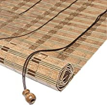 Wooden Roller Blinds - Vertical Blackout Blinds - Bamboo Venetian Blinds with Side Pull for Windows and Doors - Walnut Color (Size : 90x130cm)