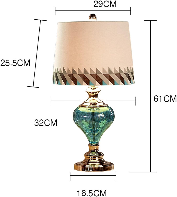 Kreative Mode Glas Tischlampe Europäische Stil Tabelle Lampe Schlafzimmer Nachttischlampe (Farbe   Dimmschalter) B06XT1VN8R     | Modern Und Elegant In Der Mode
