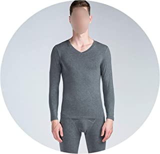 29c4d5bb22e0a Long Johns Men Modal Thin Thermal Underwear V Neck Elastic Body Shapers  Asian Size