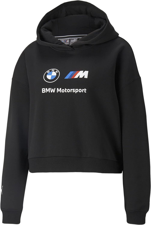 PUMA Women's Standard BMW MMS Essentials Logo Fleece Hoodie
