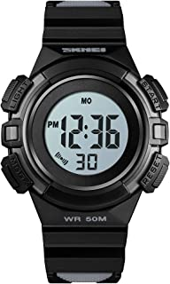 IWOCH Girls Watches, Multi-Function Sport Waterproof Digital Colorful Wrist Watches with Alarm Stopwatch Gifts for Kids Girls Boys