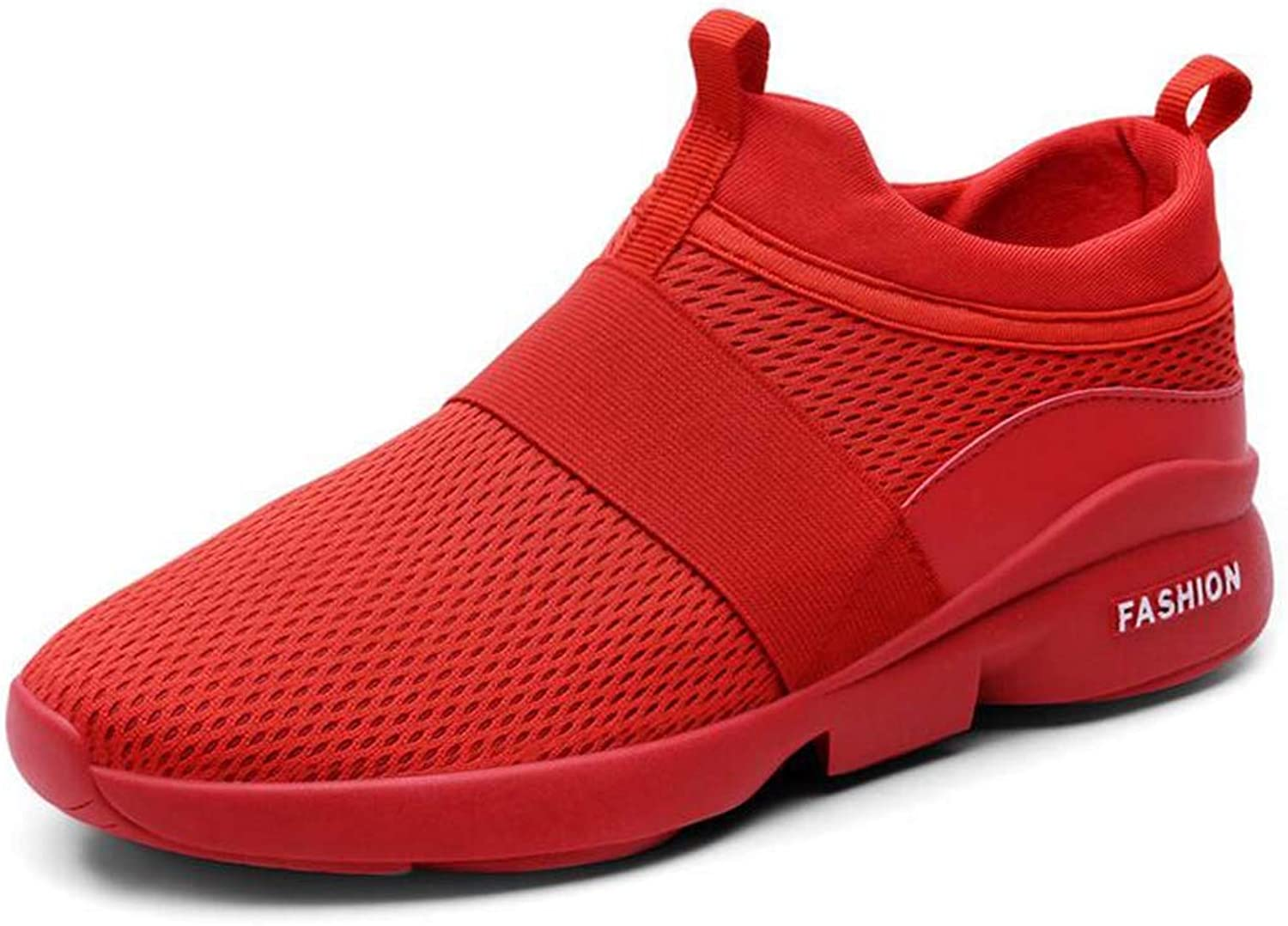 Men's Trainers, Jogging shoes, Mesh Breathable Lightweight Sneakers Outdoor Jogging Fitness,Red,43