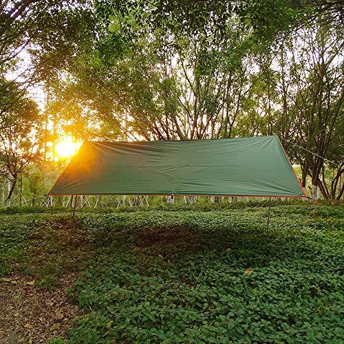 X&L Awning Waterproof Tarp Tent Shade Ultralight Garden Canopy Sunshade Outdoor Camping Hammock Rain Fly Beach Sun Shelter-3 * 4M