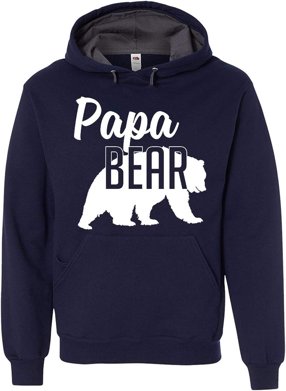 Selling rankings Papa Bear Hoodie Dad Manufacturer regenerated product Mens Sweatshirt Soft Adult Unisex