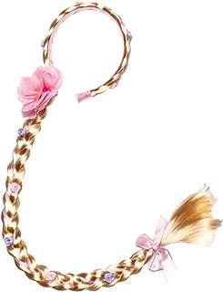 Long Hair Princess Hairpiece Long 29 Cosplay Braided Wigs for Girls Princess Dress Up Accessories (Rapunzel Headband)