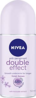 NIVEA Double Effect Violet Senses Roll On Anti-Perspirant Deodorant, 50ml