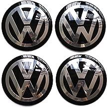 4PCS 65mm 2.56''Auto Car Styling Accessories Emblem Badge Sticker Wheel Hub Caps Centre Cover fit for VW Volkswagen B5 B6 MK4 MK5 MK6 Golf Polo Passat SAGITAR Jetta CC MAGOTAN (black, 56mm)