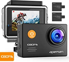 APEMAN A70 Action Cam Impermeabile Wi-Fi FHD, 14 MP, Nero