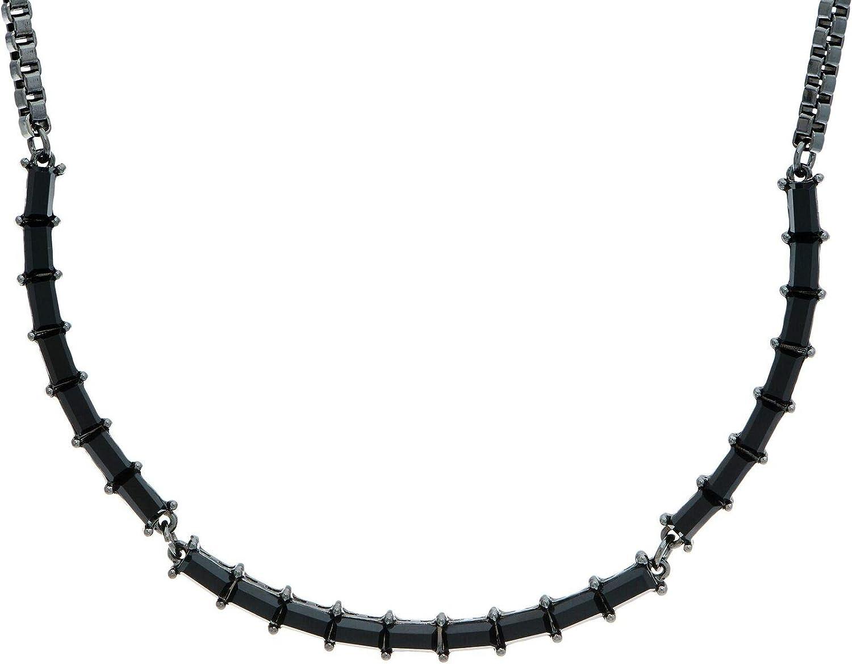 Lori Goldstein Logo Links Baguette Collar Black Necklace