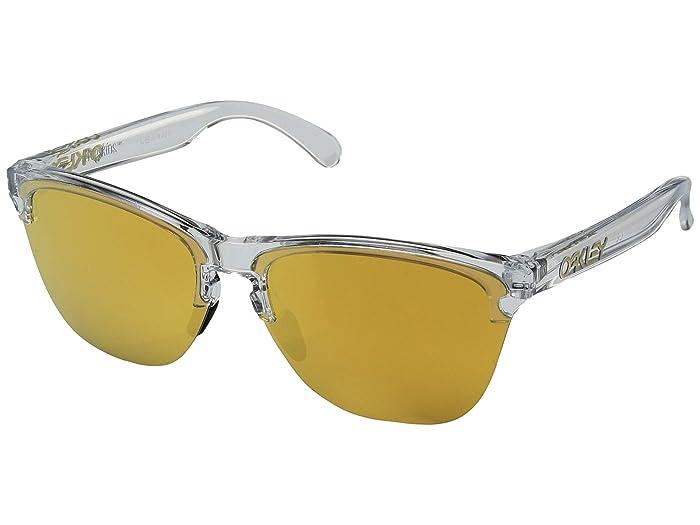 Oakley Frogskins Lite (Polished Clear/24K Iridium) Sport Sunglasses