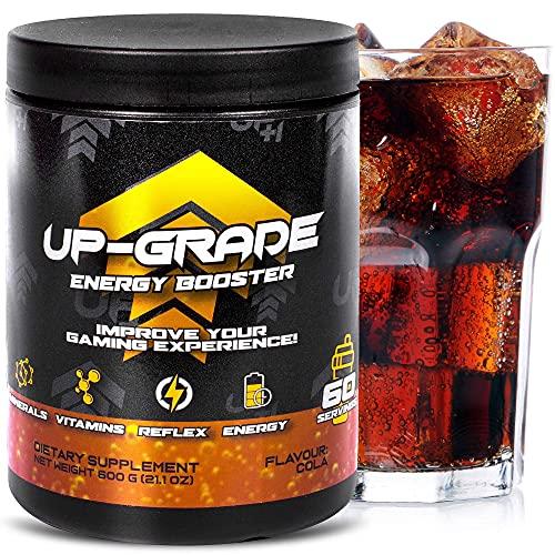 UP-GRADE - Energy Drink Pulver - Caffeina in Polvere per Una Maggiore Concentrazione Negli E-Sport - 600 g 60 Porzioni (Cola)