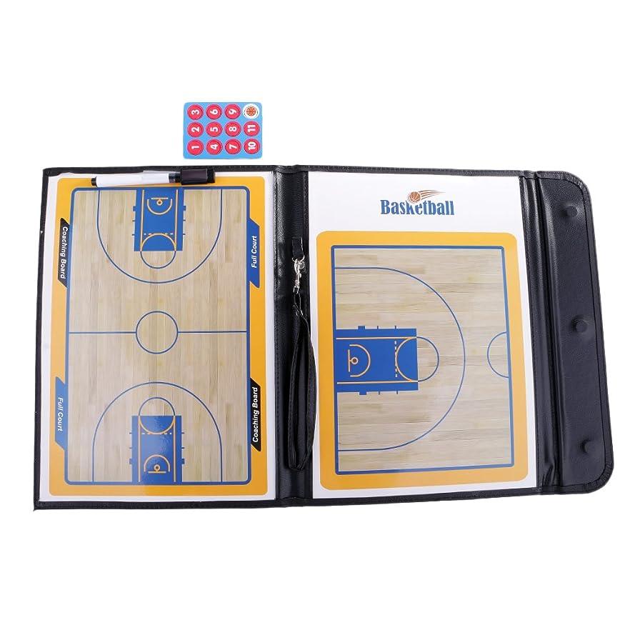 あえぎトレード人間Flameer バスケットボールコーチングボード 作戦板 バスケットボール 作戦盤  折りたたみ コーチング ボード ペンセット PVC + PUレザー