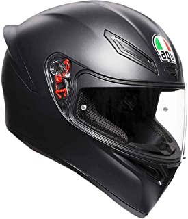 AGV Unisex-Adult Full Face K-1 Motorcycle Helmet (Matte Black, Medium/Small)
