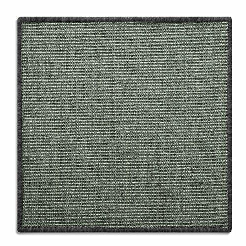 Floori® Sisal Kratzteppich | Naturfaser: nachhaltig und umweltfreundlich | Kratzmatte für die Krallenpflege Ihrer Katze | Grau Khaki 50x50cm