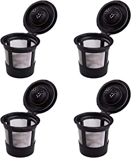 4-Pack Coffee Filters Coffee Maker Filter Basket Reusable Bar Coffee Filter Eco Friendly Enerhu Fit Keurig Home Single Cup Brewing Systems