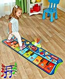 Fun Step-to-Play Junior Battery Operated Piano Mat with Flashing Lights and 20 Demo