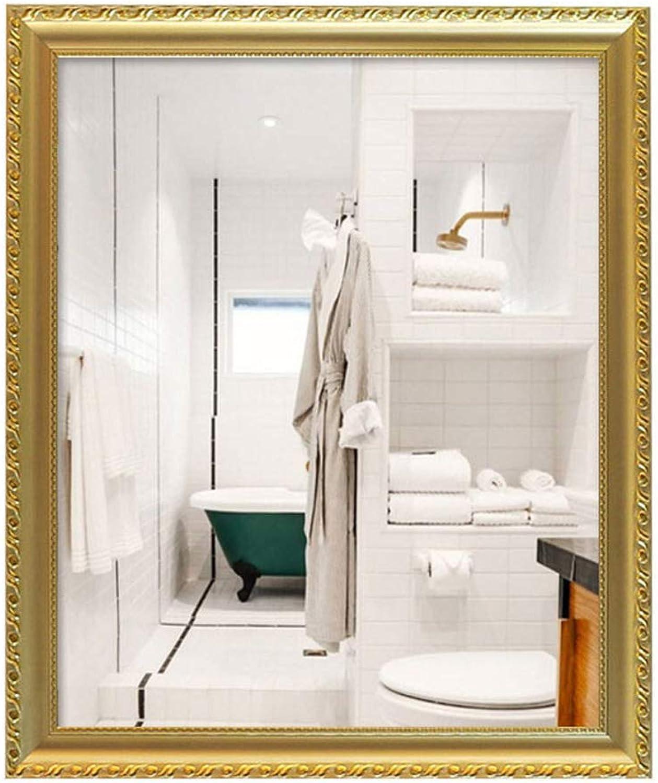 Rectangular Bathroom Mirror Titanium gold Frame Wall Mirror ...