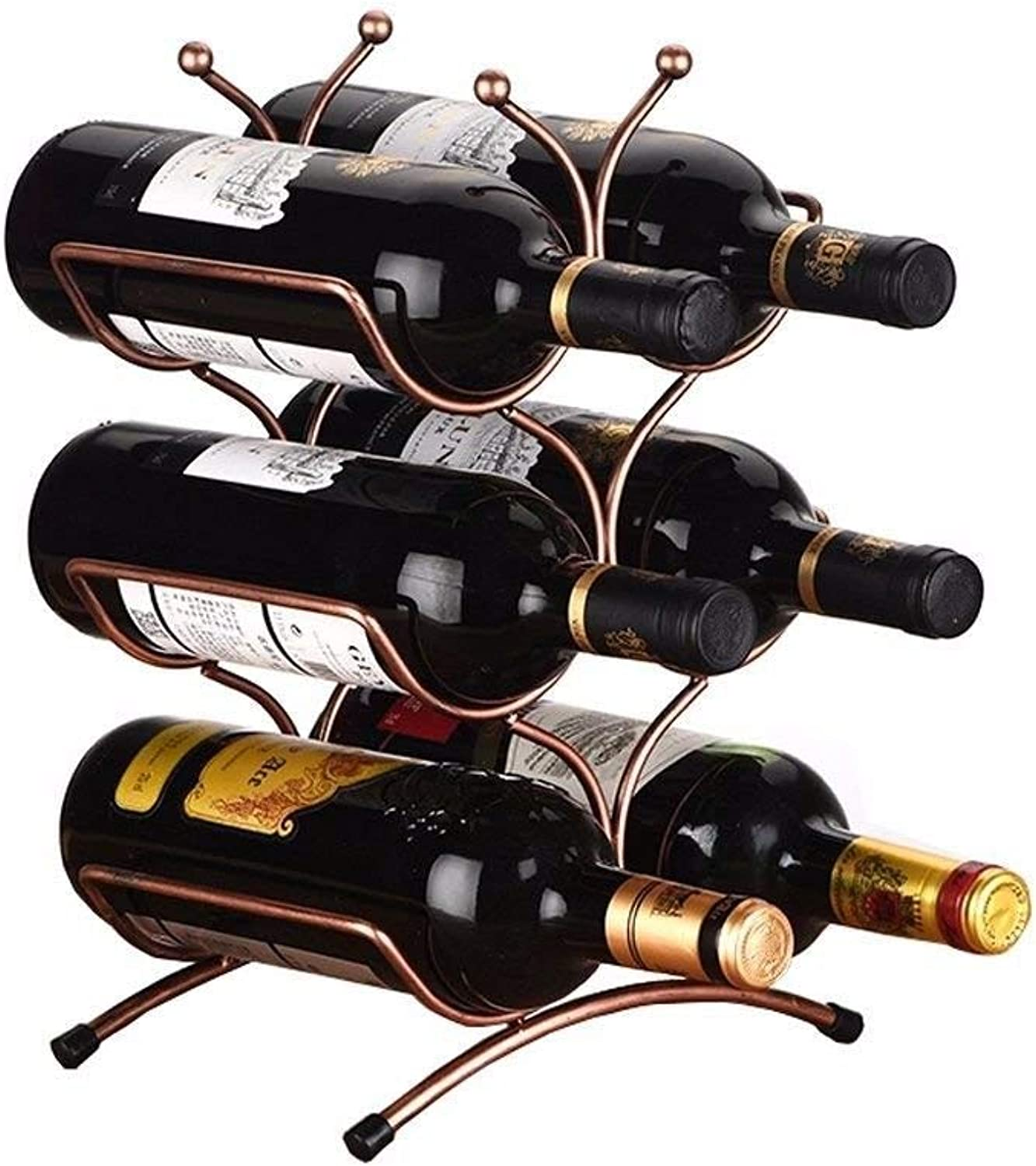 Red Wine Shelf This bottle rack is the perfect accessory for storing bottles - Stackable bottle holder ideal for wine bottles6 bottles bees shape bottle rack metal tabletop freestanding storage rack b
