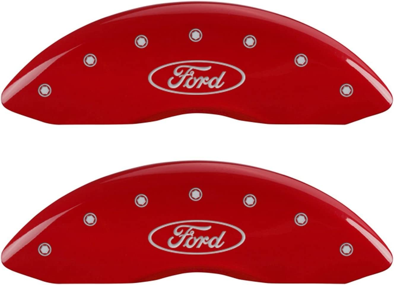 Super intense SALE MGP Caliper Covers 10239SFRDRD Red Powder 67% OFF of fixed price Coat Front Finish and