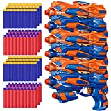 POKONBOY 6 Pack Blaster Toys Guns for Boys Fit for Nerf Bullets, Toy Guns with 120 PCS Refill Foam Darts for Boys Girls Birthday Gifts Party Favors Hand Gun Toys for 6+ Year Old Kids
