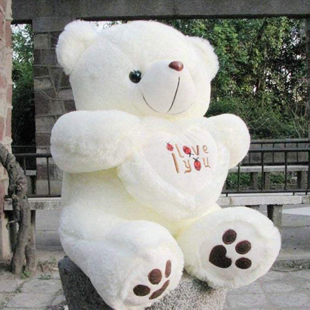 Cute Lamb Stuffed Animals, Plush Toys 50cm 70cm 90cm Stuffed Animal Plush Toy White Teddy Bear Holding Heart With I Love You Written On It Party Decoration Size 50cm Amazon Ca Home Kitchen