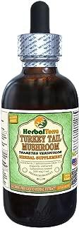 Turkey Tail Mushroom (Trametes Versicolor) Glycerite, Dried Mushroom Alcohol-FREE Liquid Extract 2 oz