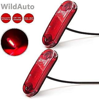 Rot 2stk-Schwamm Basis LED Seitenmarkierungsleuchten 12V//24V f/ür Auto LKW Anh/änger SUV Van Wasserdicht Markierungsleuchten E-geprueft WildAuto