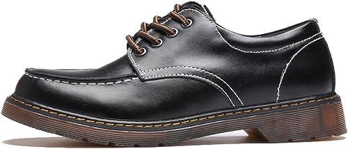 JIALUN-des JIALUN-des JIALUN-des Chaussures Simple Hommes's chaussures Chaussures en Cuir véritable Lece Up Outsole Oxfords Faible Bottines pour Hommes (Couleur   Noir, Taille   CN24.5) 7eb