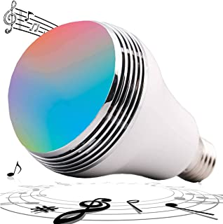 Boaz Smart Bluetooth Bulb,APP Controlled Music LED Bulb,Wireless Bluetooth Speaker, RGBW Color Changing Music Light Bulb, Dimmable White Light to Warm Yellow Bluetooth Bulb,i-Link Control(E26/E27)