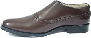 ASM Brown Monk Brogue Shoes with TPR Sole, Leather Insole, Leather Lined, and Memory Foam Cushioning for Boys/Mens by