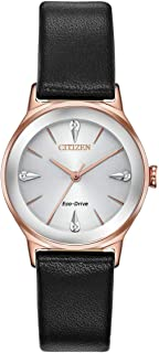 Citizen EM0733-08A Axiom Women's Watch Black 28mm Stainless Steel
