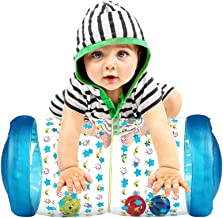 Ancaixin Inflatable Baby Jumbo Roller with Ball Drop Game for Crawling and Standing Exercise Non Toxic Roll&Crawl Toy for Over 6 Monthes Toddler Blue