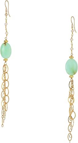 Gemstone Amazonite Dangle Earrings