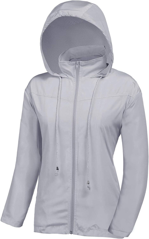 UUANG Women's Lightweight Raincoats San Francisco Mall Outdoor Active 5% OFF Waterproof Ho