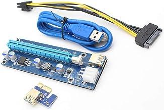 zNLIgHT Cable & HUB & Adapter | Tarjeta Riser PCI Express PCIE PCI-E 009s a 1X 16X Cable Adaptador Extensor USB 3.0 | Producto Digital