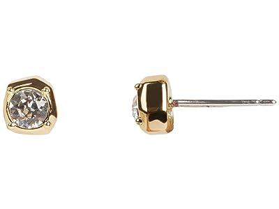 Rebecca Minkoff Stone Stud Earrings (Gold) Earring
