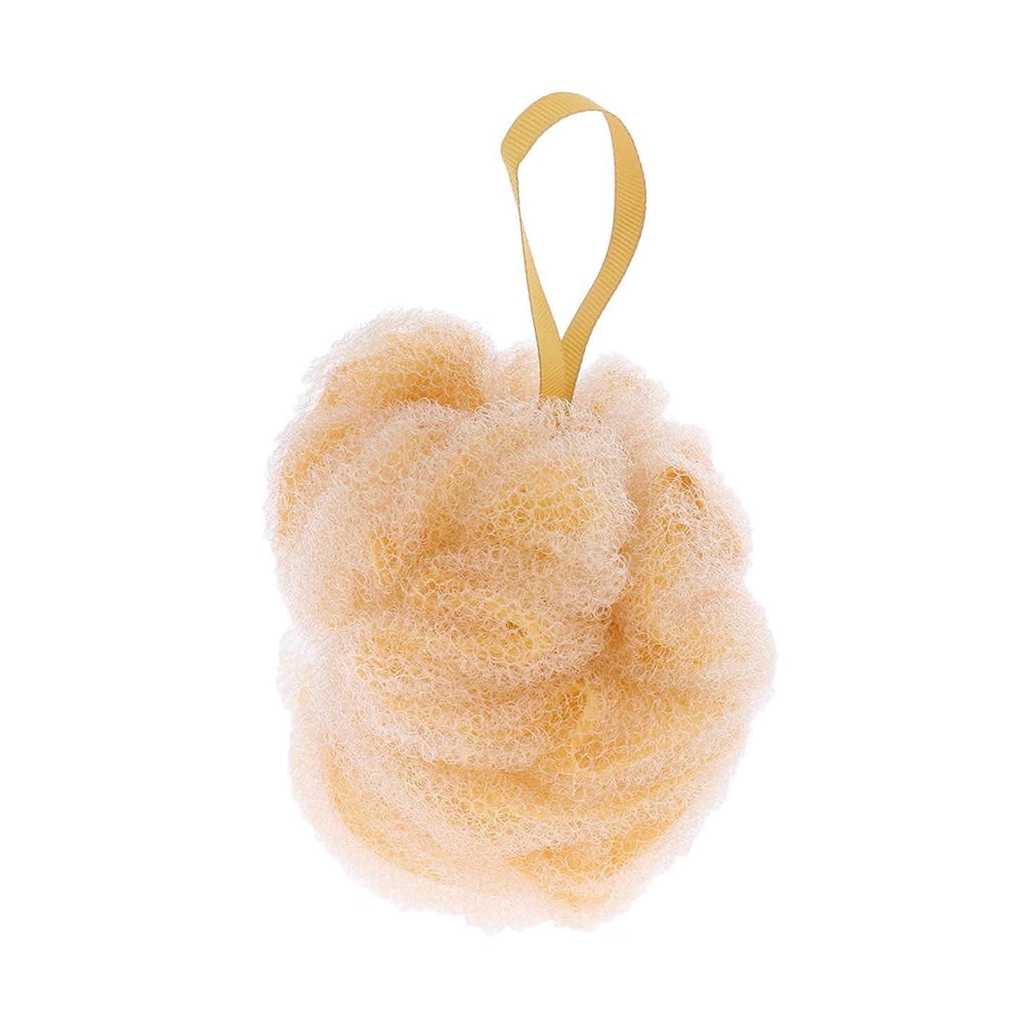骨審判尋ねるFLAMEER 全3色 ボディウォッシュボール シャワーパフ ボール 角質除去 男女兼用 贈り物 実用的 - 黄