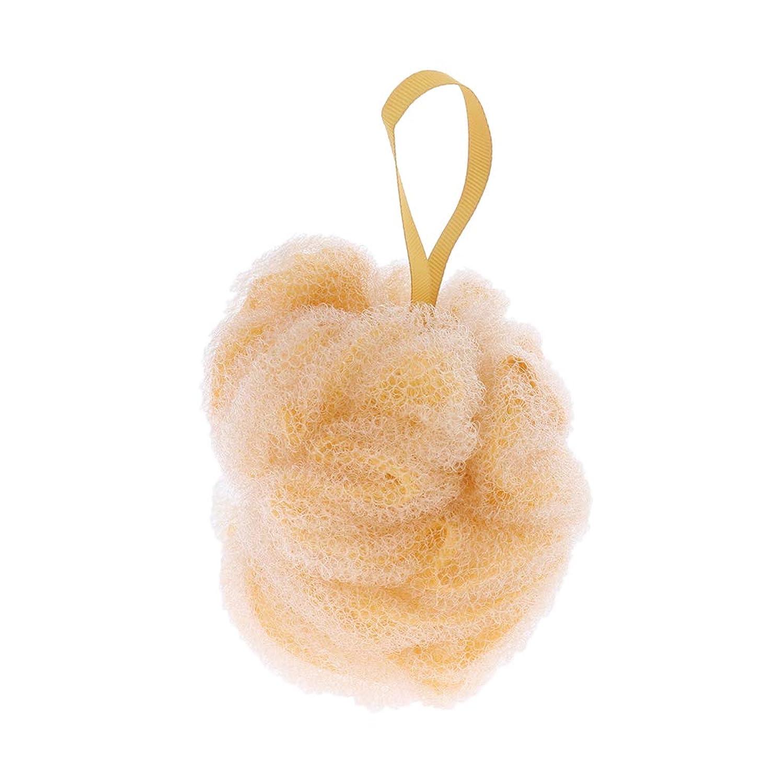 偽造舗装する洞察力FLAMEER 全3色 ボディウォッシュボール シャワーパフ ボール 角質除去 男女兼用 贈り物 実用的 - 黄