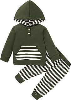 Newborn Baby Boy Hoodie Set Long Sleeve Sweatsuit Tops+...
