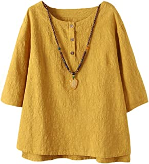 official photos f1821 0f2db Amazon.it: Giallo - Bluse e camicie / T-shirt, top e bluse ...