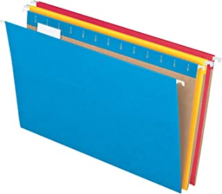 Pendaflex Recycled Hanging Folders, Legal Size, Assorted Colors, 1/5 Cut, 25/BX (81632)