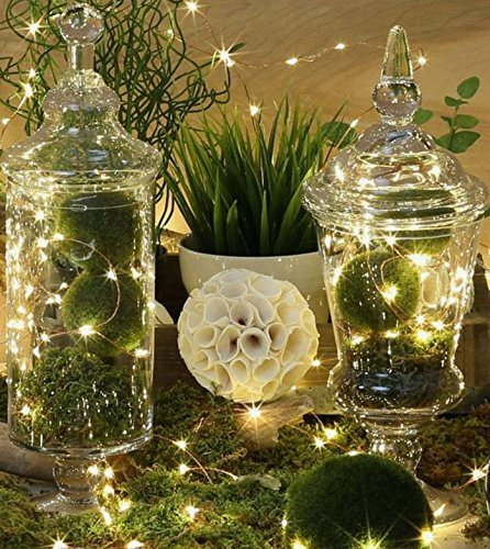 Parties Click 4 packs of 6ft LEDs String Lights Mini Batteries Included for Wedding Centerpieces,Teepee Tent, Patio, Parties