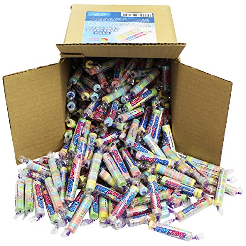 Sweet Tarts Candy Bulk - Wonka Sweetarts Twist Wrap Candies, Approx 4 Lbs in a 6x6x6 Family Size Party Box