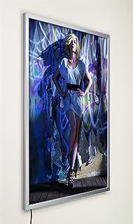 Displays2go Illuminated Backlit Poster Light Box Frame for 18 x 24 Prints, Wall-Mounted Poster Frame for Portrait or Lands...
