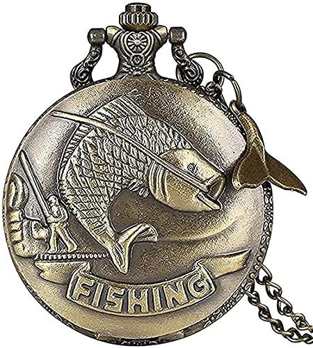 LBBYLFFF Collar de Moda Collar Negro Stalin Vintage CCCP Reloj de Bolsillo de Cuarzo Hombres Mujeres Collar con Colgante de Encanto Newtime