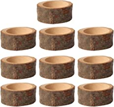 KESYOO 5pcs Wooden Candle Holder Tea Light Candle Holder for Rustic Wedding Christmas Holiday Decoration S