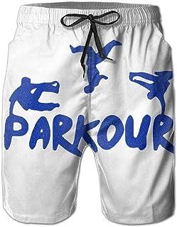 Pantalones Cortos de Playa para Hombres Parkour Sports, Traje de baño de Secado rápido en el mar M-XXL